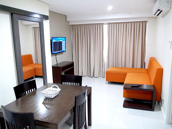 セブ島のアリシアアパーテルの客室