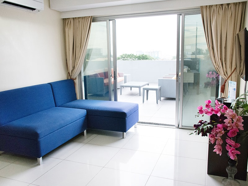 セブ島のアリシアアパーテルの客室 ルーフバルコニー付ツーベッドルームエグゼクティブ