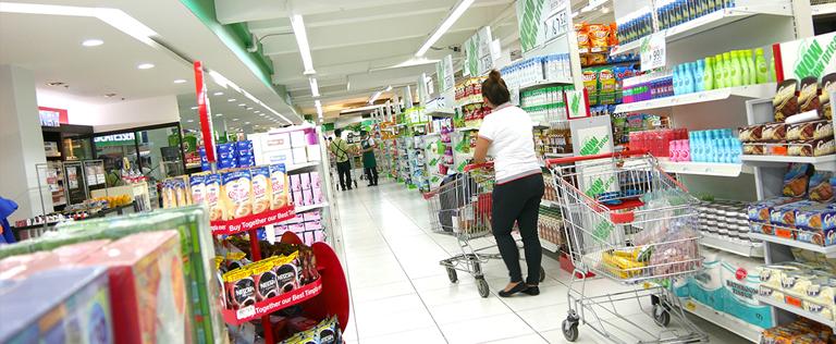 セブ島のスーパーの店内