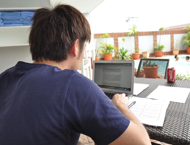 パソコンを使って英語学習